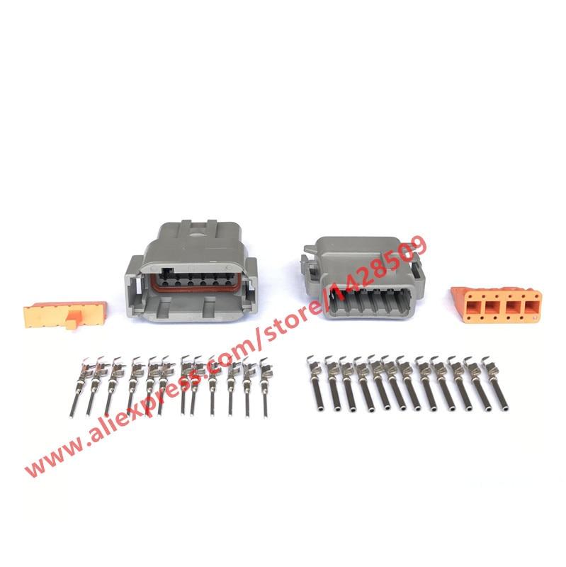 10 مجموعات DTM السيارات الألمانية موصل DTM04-12P / ATM04-12P DTM06-12S / ATM06-12S 12 دبوس السيارات موصل مع دبوس