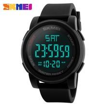 SKMEI Brand Men's Watches LED Digital Watch Men Wrist Watch Black Alarm 50m Waterproof Sport Watches For Men Relogio Masculino