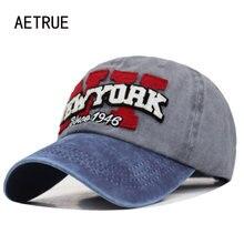 Aetrue Merk Baseball Cap Mannen Snapback Caps Vrouwen New York Vader Hoeden Voor Mannen Pet Bone Trucker Gorras Mannelijke Vintage hoed Cap