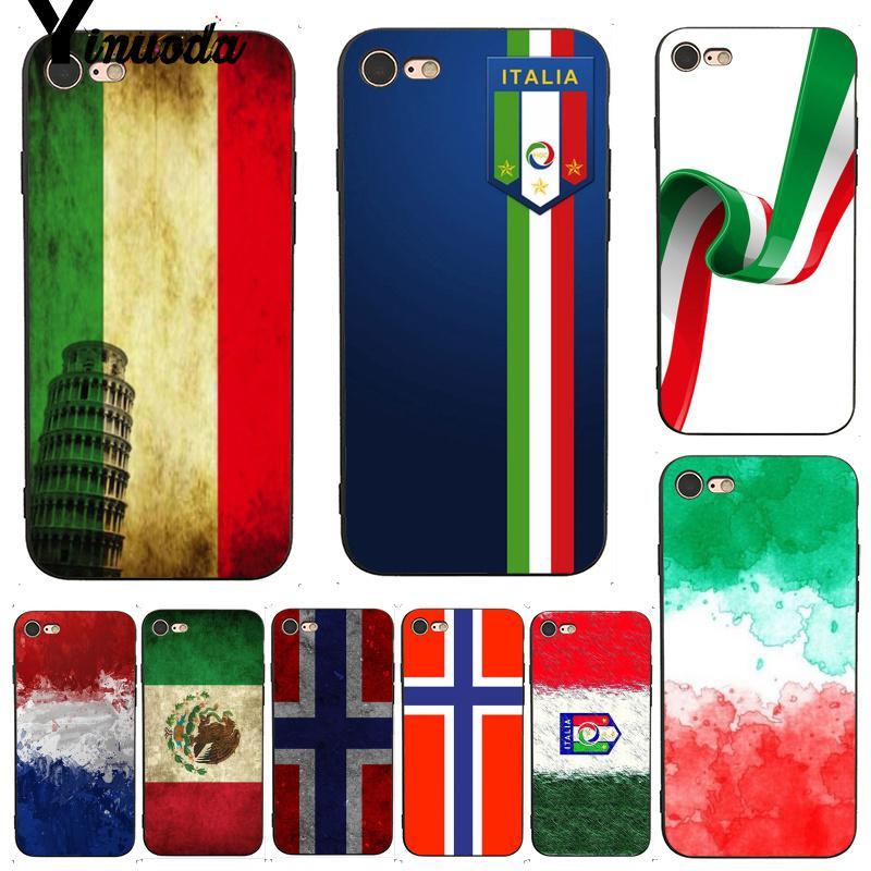 Carcasa Yinuoda para iphone 7 6 X, carcasa de lujo con diseño de bandera de Italia e Irlanda para iPhone 7X6 6S 8 Plus X 5 XS XR