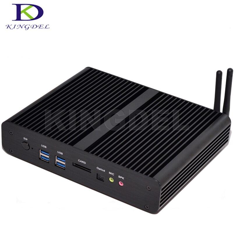 كمبيوتر يعمل بنظام التشغيل windows 10 ، Intel 4th Mini itx ، i7 4500U/4510U ، 16/512 ، HTPC ، Intel ، بدون مروحة ، Ultra HD ، 4K ، 2 جيجابت LAN 2 x HDMI SPDIF