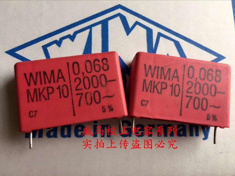 2019 hot sale 10pcs/20pcs German capacitor WIMA MKP10 0.068UF 2000V 683 2000V 68N P: 27.5m Audio capacitor free shipping