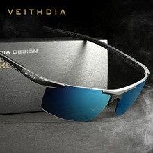 VEITHDIA Aluminum Magnesium Sunglasses Polarized S Men Coating Mirror Driving Glasses Male Eyewear Accessories