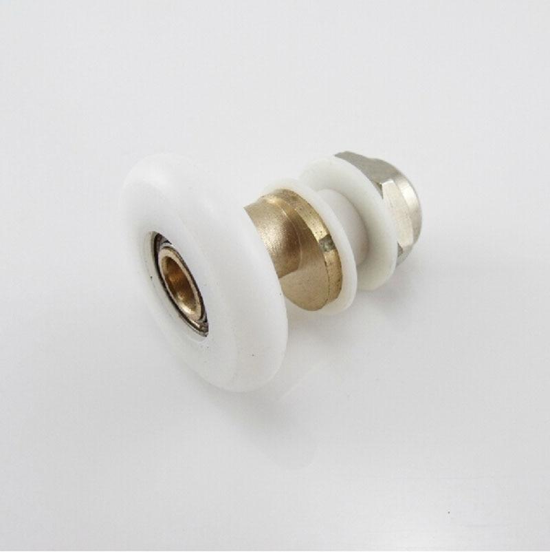 10 Uds de alta calidad de Nylon de plástico y latón Puerta de ducha rodillos corredores ruedas de poleas rueda para puerta de ducha KF526