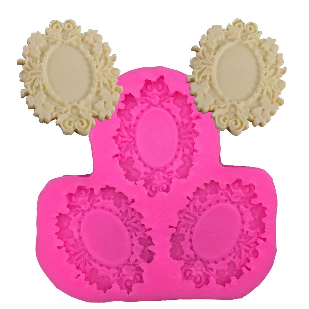 Moule de gâteau fondant en silicone   Cadre Photo en forme 3D, moule de qualité alimentaire, mastic confeitaria chocolat jello outil de décoration pour faire des bonbons F0267