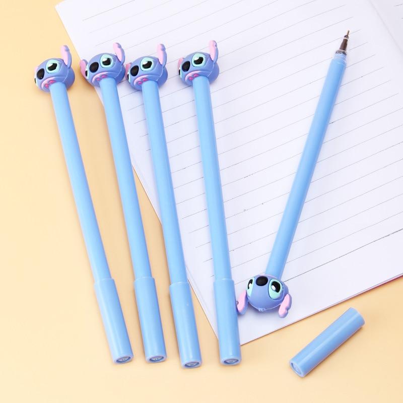 Креативная гелевая ручка для стежка, Милая Черная чернильная авторучка 0,5 мм, канцелярские принадлежности, подарок
