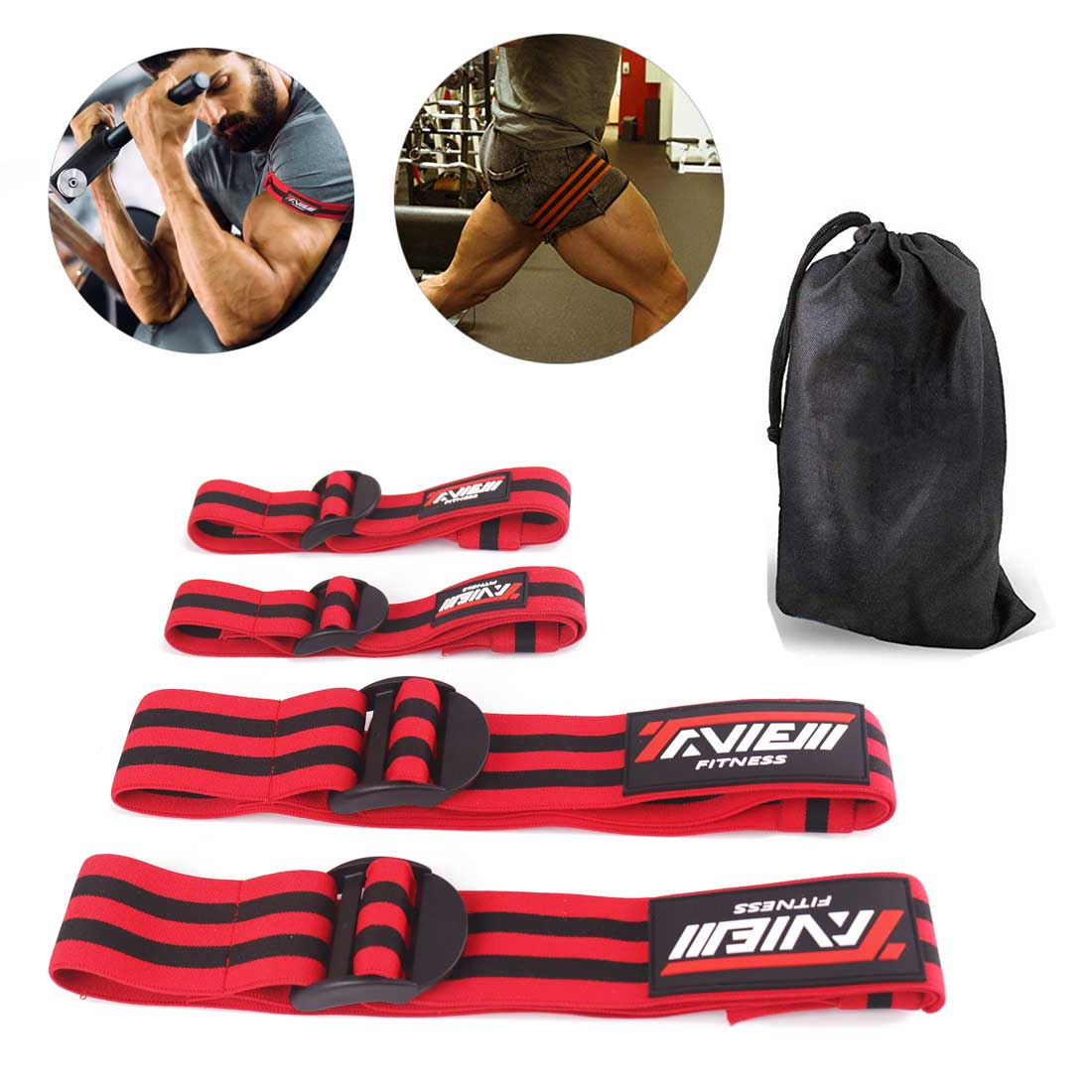 Fitness Occlusion Bands Bodybuilding Weight Blood Flow Restriction Bands Arm Leg Wraps Fast Muscle Growth Gym Equipment