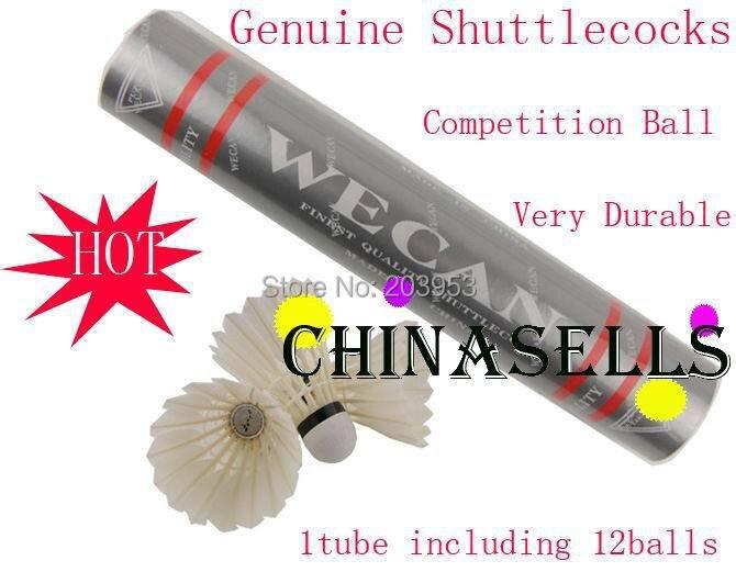 5 tubes in stock Genuine Silver Wecan badminton shuttlecock 12balls free ship