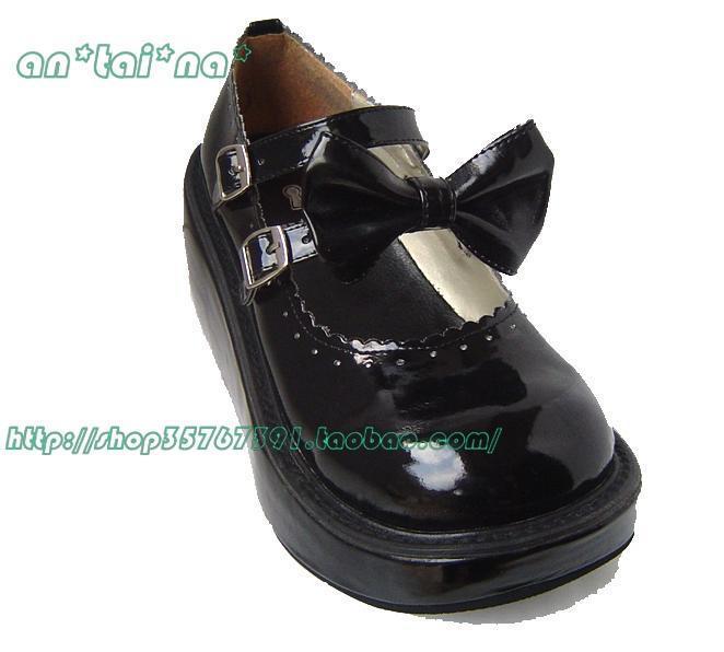 Princesse douce lolita gothique lolita chaussures Tai an na pull lolita cos punk double avec plate-forme chaussures an9137 - 2 chromophous
