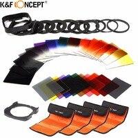 K&F Concept 40 in 1 Camera Filter Kit 24 Graduated Full Color nd filter Set+9 Adapter Ring+2 Holder+Lens Hood+4 Filter Lens Bag
