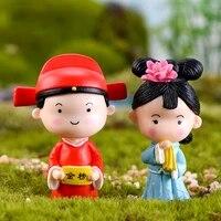 ZOCDOU     vetements de poupees de la dynastie Qing chinoise  2 pieces  jouet  ornement de Couple  petite Statue  petite Figurine  artisanat  decoration de maison