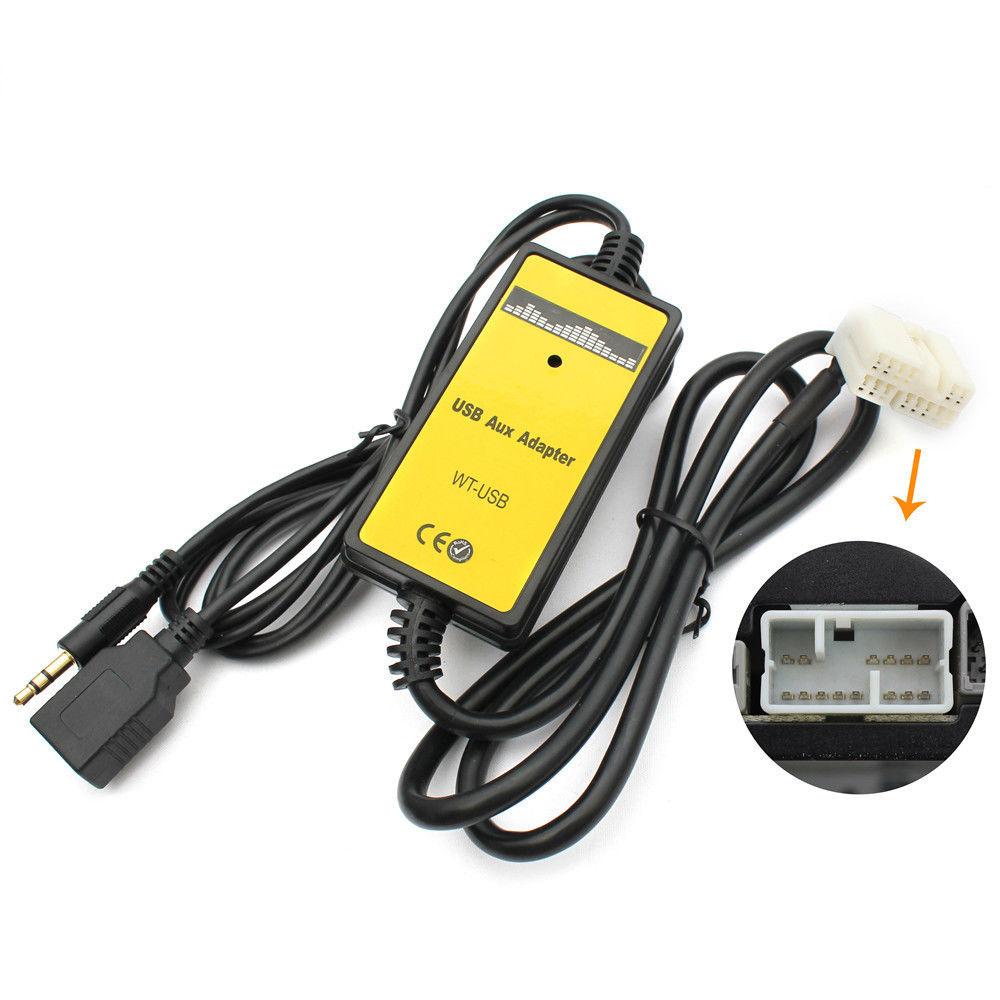 Adaptador de interfaz de actualización de máquina de CD MP3 Digital para coche con entrada AUX + USB de 3,5mm acuerdo CRV S2000