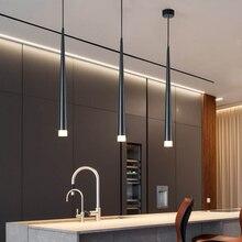 Nordic led żyrandol długi downlight kuchnia restauracja/Bar stożek żyrandol dekoracyjny żyrandol nocny żyrandol