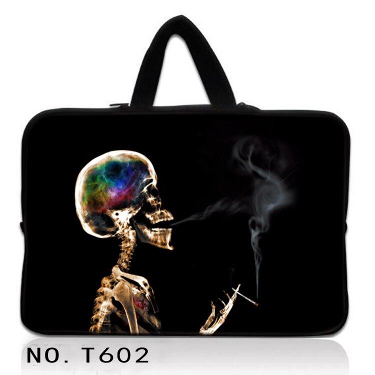 "Crânio de fumo Neoprene Laptop Sleeve Case Capa Para 7 8 10 12 13 15 17 17.3 polegada 14.1 ""Notebook Netbook Notebook PC 15.6 13.3"