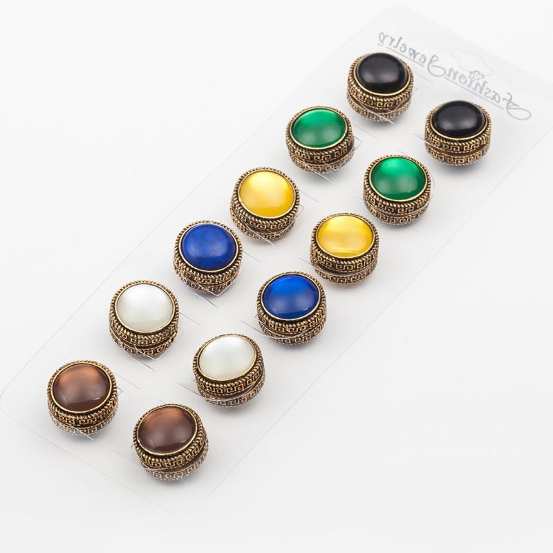 12 pcs fix pin 3 cor mix Elegante ímã Clássico do vintage acessórios broche hijab muçulmano cachecol fivela
