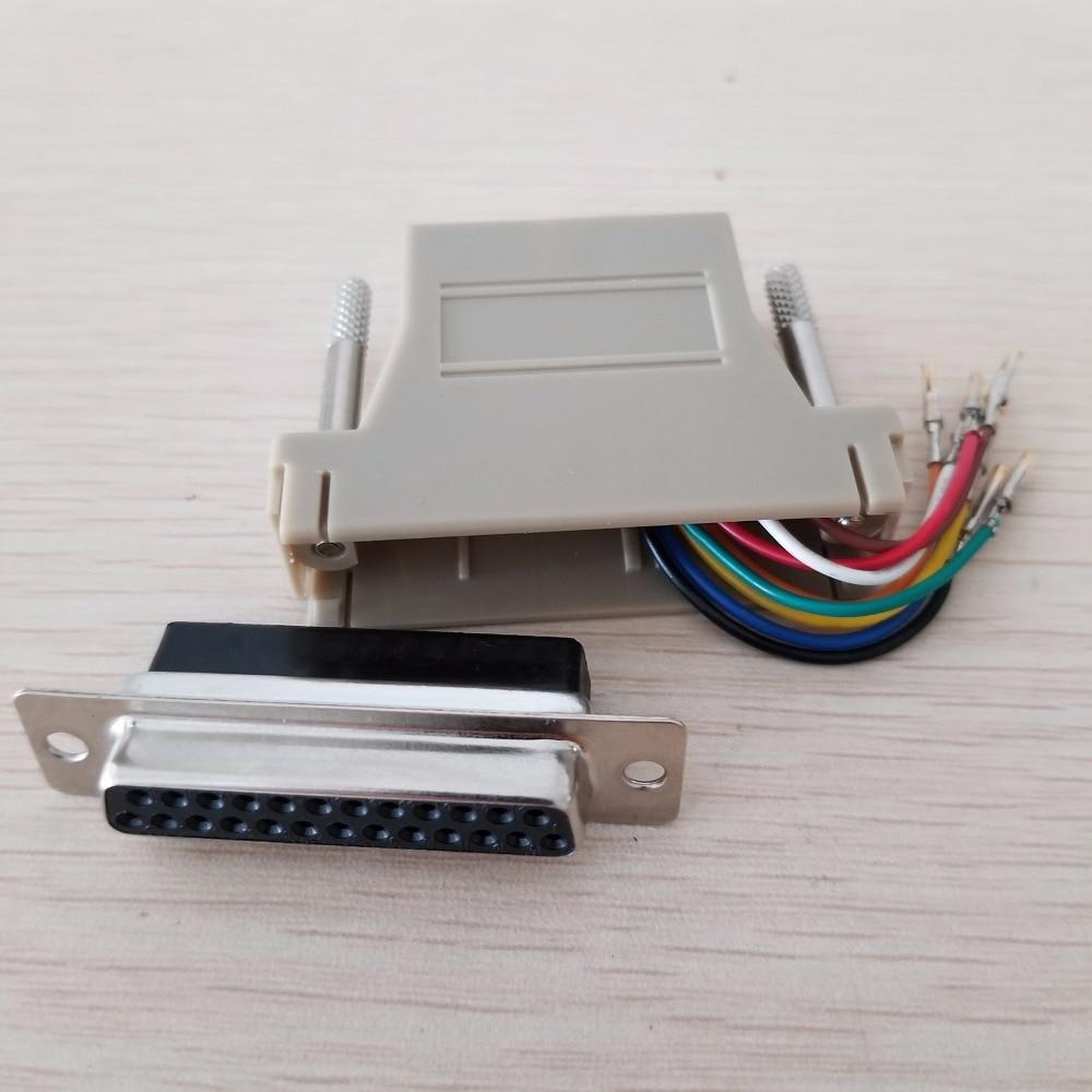 RJ45 сетевой адаптер гнездовой к параллельному порту RS232/DB25 гнездовой адаптер конвертер разъем