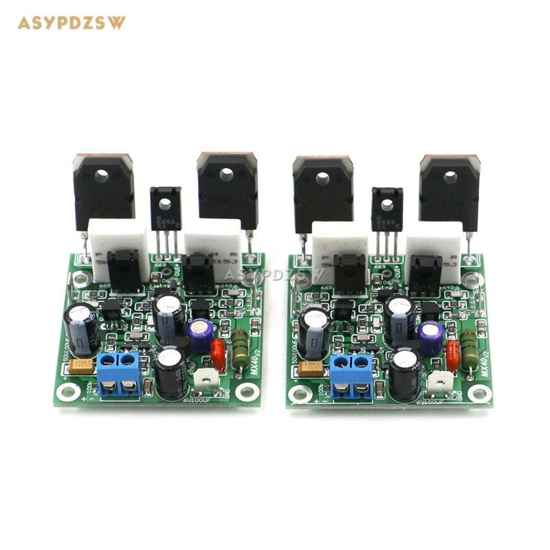 Novo 2 canais estéreo mx40 mini amplificador de potência terminou placa substituir lm3886