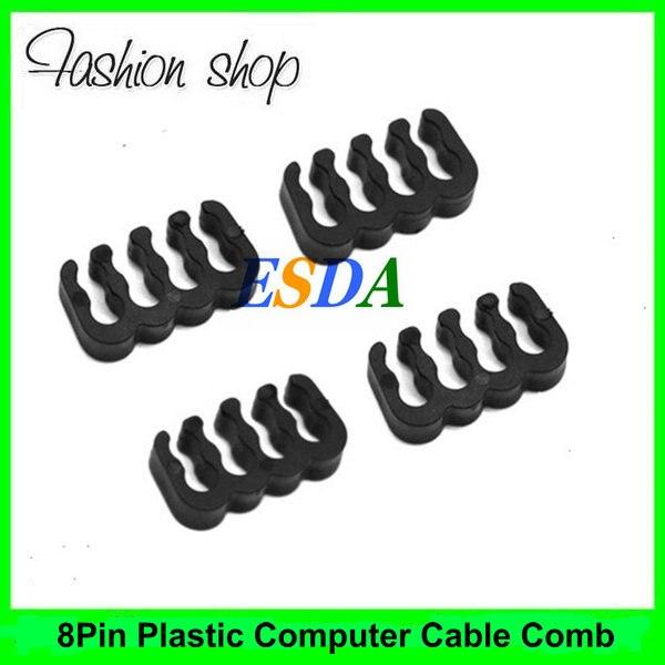 20 unids/lote plástico Cable de la computadora peine para 2mm 3mm 4mm 8 Pin ATX PCI-E fijo Cable de extensión de alimentación