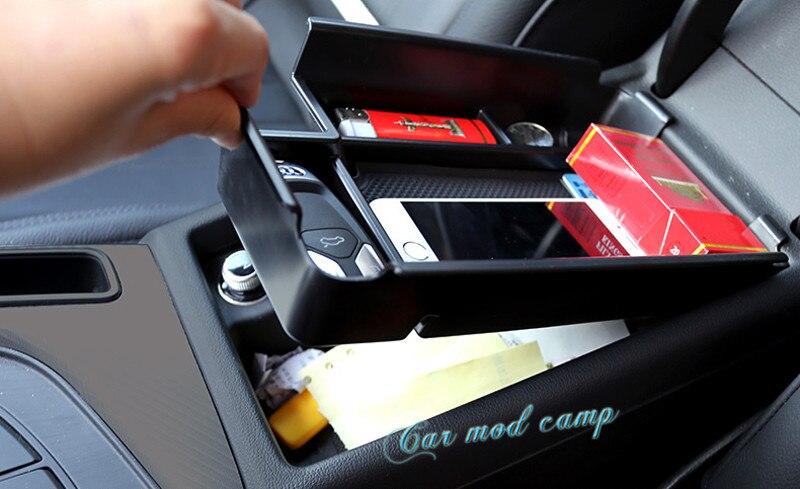 ¡Conducción a la izquierda! ¡Para Audi A4 B9 2017 2018 caja de almacenamiento de reposabrazos Central Interior organizador 1 Uds accesorios de diseño de coche!