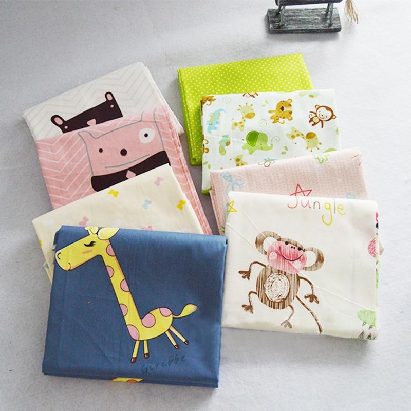 Estampado de dibujos animados acolchado de tejido de algodón Tilda telas tejidos cojín textil para hogar Patchwork Diy costura de tela