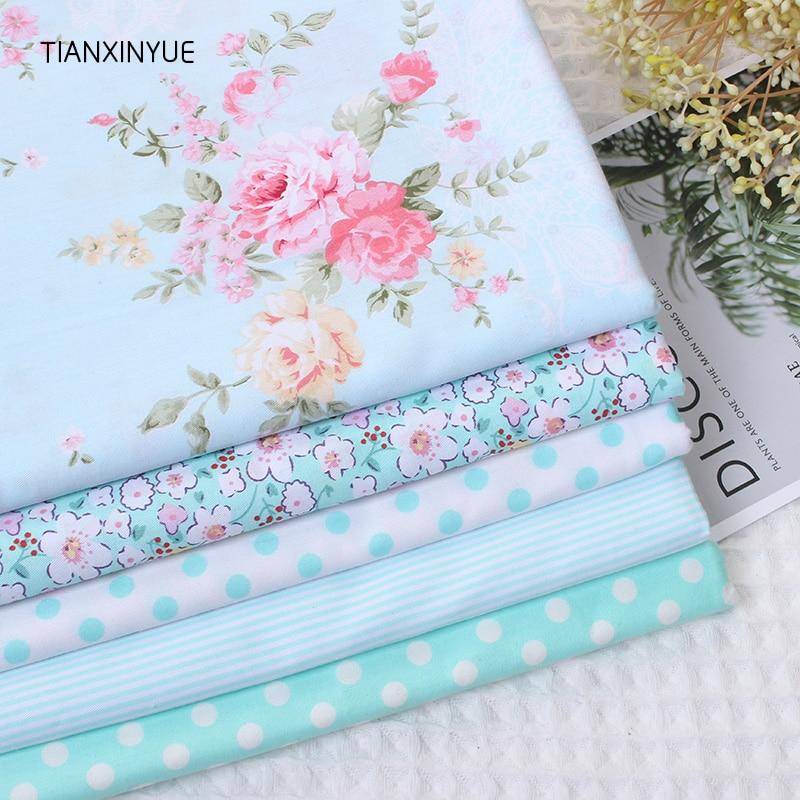 Victoria Rose flower fabric 95% Cotton Fabric for Patchwork Sewing farbic Telas Tissus Dot cushion Cloth 5pcs 40cm*50cm