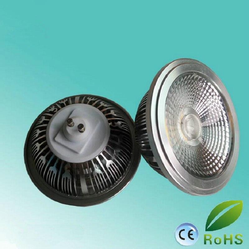 GU10 G53 Base 12W AC85-265V LED AR111 GU10 bombilla CREE COB Chip Bombilla de foco LED con equivalente a 75-100W halógeno