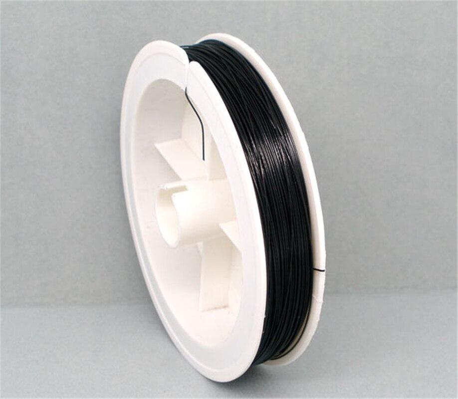 Doreenperles 1 rouleau 70M fil de perles noir 0.38mm (B04933), yiwu