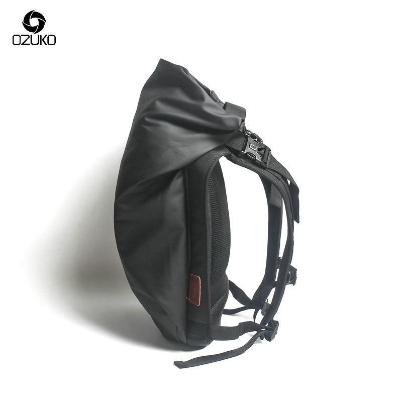 OZUKO черный рюкзак для ноутбука большой емкости водонепроницаемый повседневный мужской рюкзак модный женский рюкзак унисекс дорожные сумки...