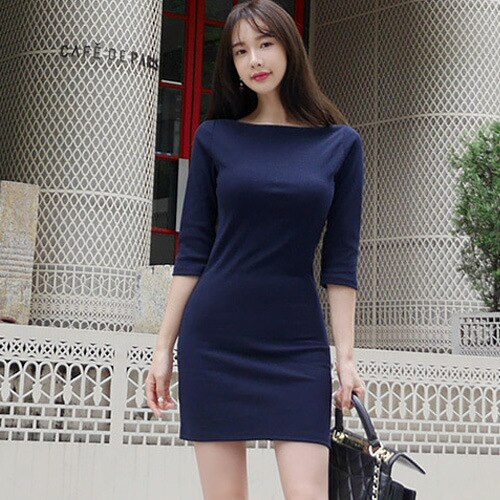 Camiseta sólida ajustada sexi para mujer, camisetas nuevas de verano 2018, Camisetas largas de media manga, camiseta negra de Corea para mujer