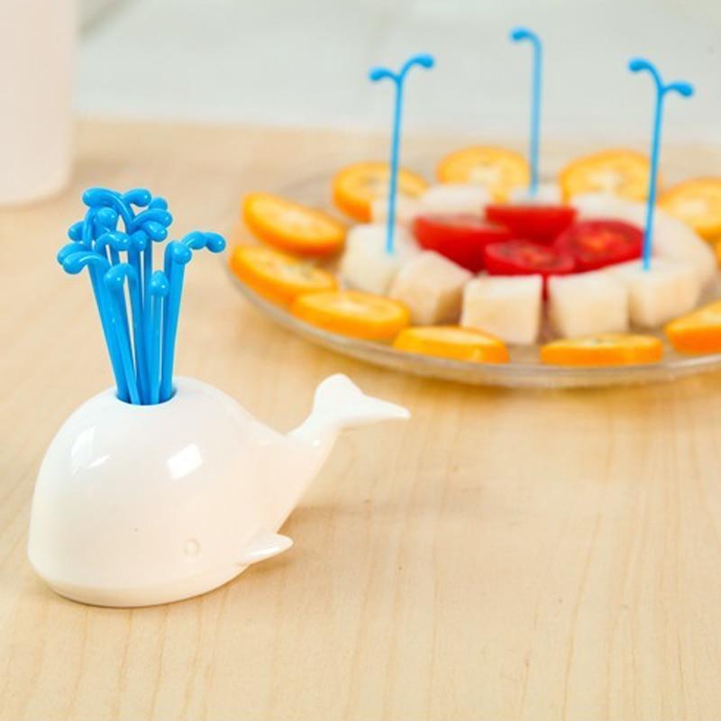 16 pçs/set Criativo Adorável Frutas Garfo Bolo de Sobremesa Salada de Plástico Ambientalmente Amigável Varas Picaretas Alimentos Palito Palito
