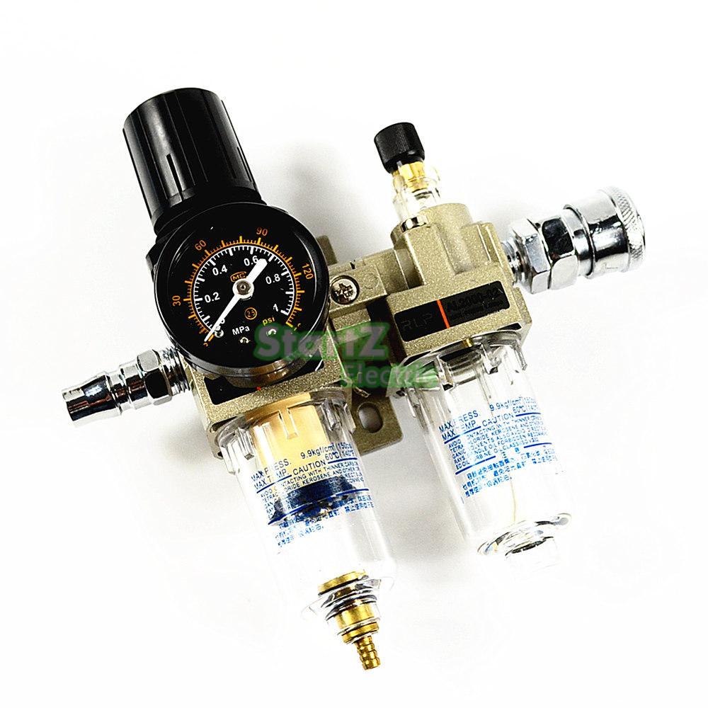 "AC2010-02 1/4 ""PT SMC ניקוז ידני סוג דחיסת אוויר מסנן פנאומטי גז מקור מעבד שני משותף שמן-מים מפריד"