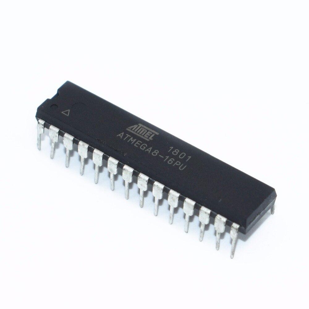 ATMEGA8 ATMEGA8-16PU MEGA8-16PU DIP Flash IC DIP-28 8-битная с программируемой вспышкой в системе 8K байт