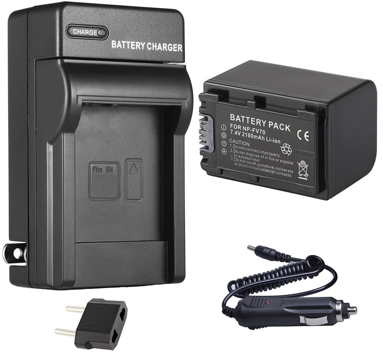 Batería + cargador para Sony DCR-SX15, SX22, SX33, SX34, SX43, SX44, SX45, SX53, SX63, SX65, SX73, SX83, SX85 Handycam Camcorder