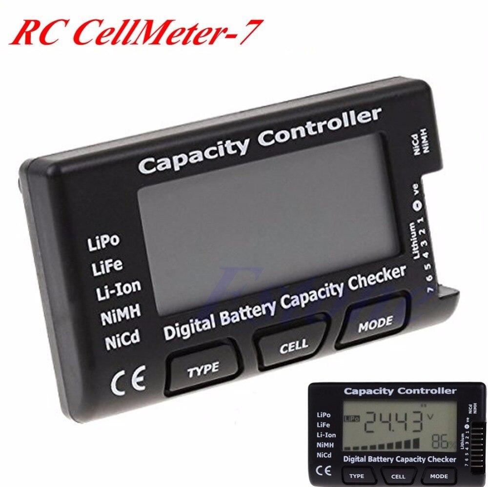 Bom verificador de capacidade da bateria digital rc cellmeter 7 para lipo li-ion nimh nicd # d12429 #