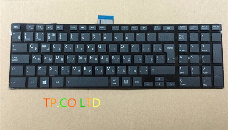 RU teclado ruso para TOSHIBA Satellite C70t-A C75-A C75D-A C75dt-A L70t-A L75-A L75D-A L75t-A