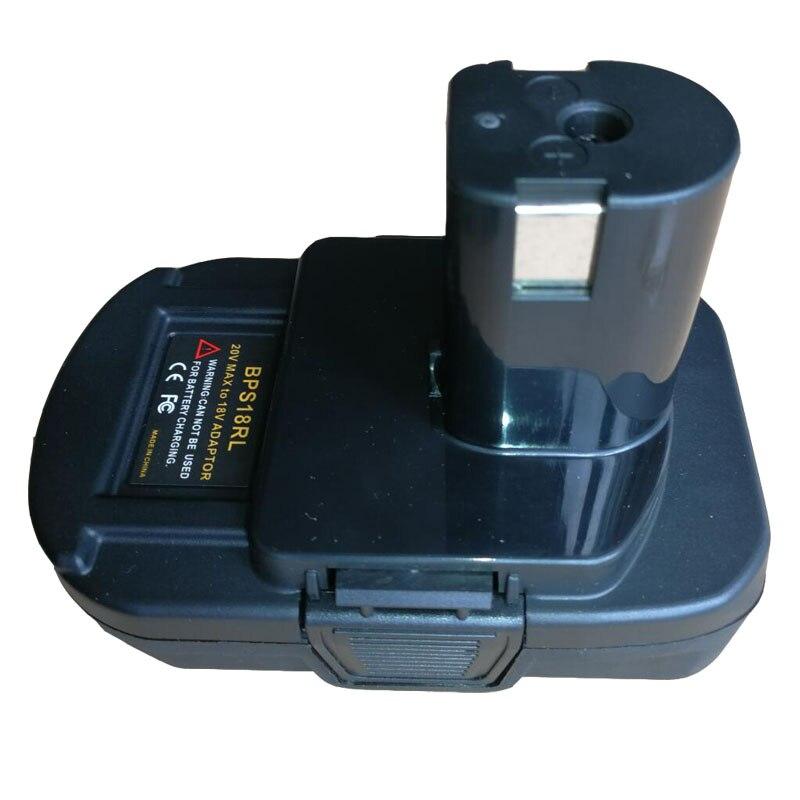 BPS18RL Converter Adapter USB Charger For Black Decker Porter Cable Stanley 18V Li-ion Battery For Ryobi Ni-cd Ni-hm Battery