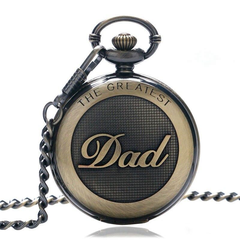 Подарок для папы, серия ретро, кварцевые карманные часы для папы, повседневное ожерелье с подвеской, античный стиль, стимпанк, мужские часы с цепочкой, подарок на день отца