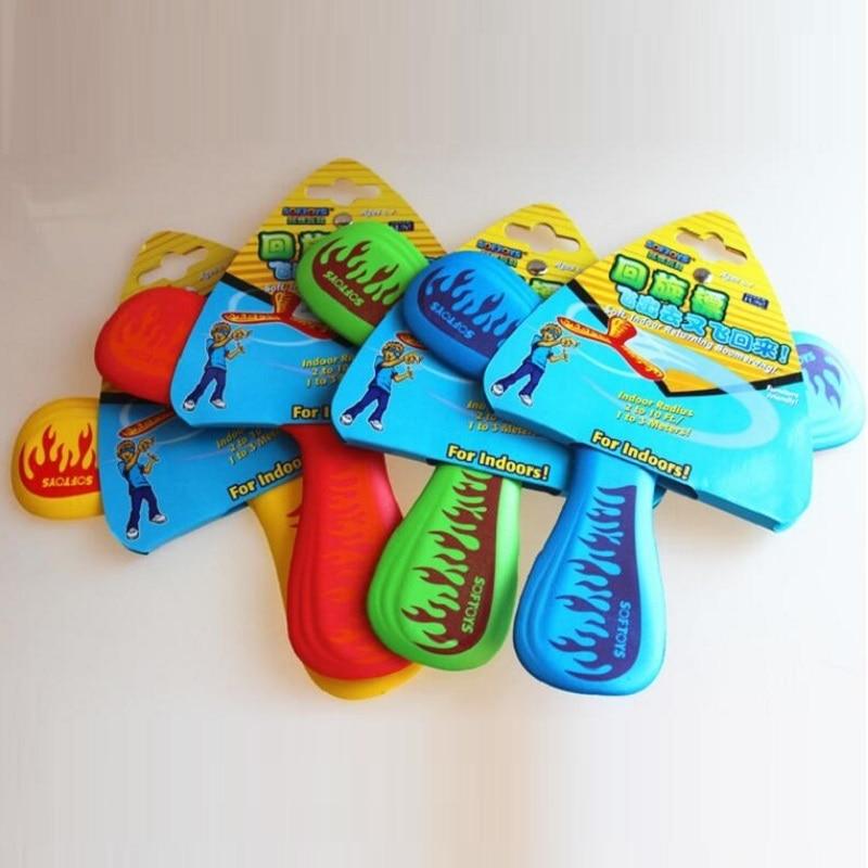 Boomerang al aire libre EVA juguetes de plato volador disco volador juguetes para niños juguetes voladores para regalos de cumpleaños