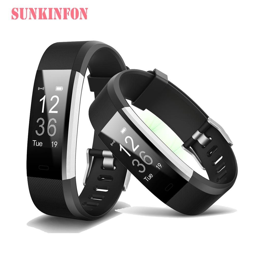 ID116 HR Plus Bluetooth Smart Polsband Armband Fitness Slaap Tracker stappenteller Hartslagmeter voor Sony Xperia C3 C4 C5 Z5