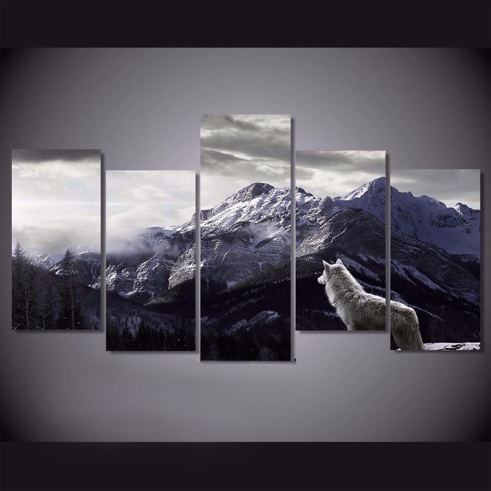 Фоторамка для домашнего декора, холст с принтом, настенная живопись, Снежная гора, плато волка Wolv