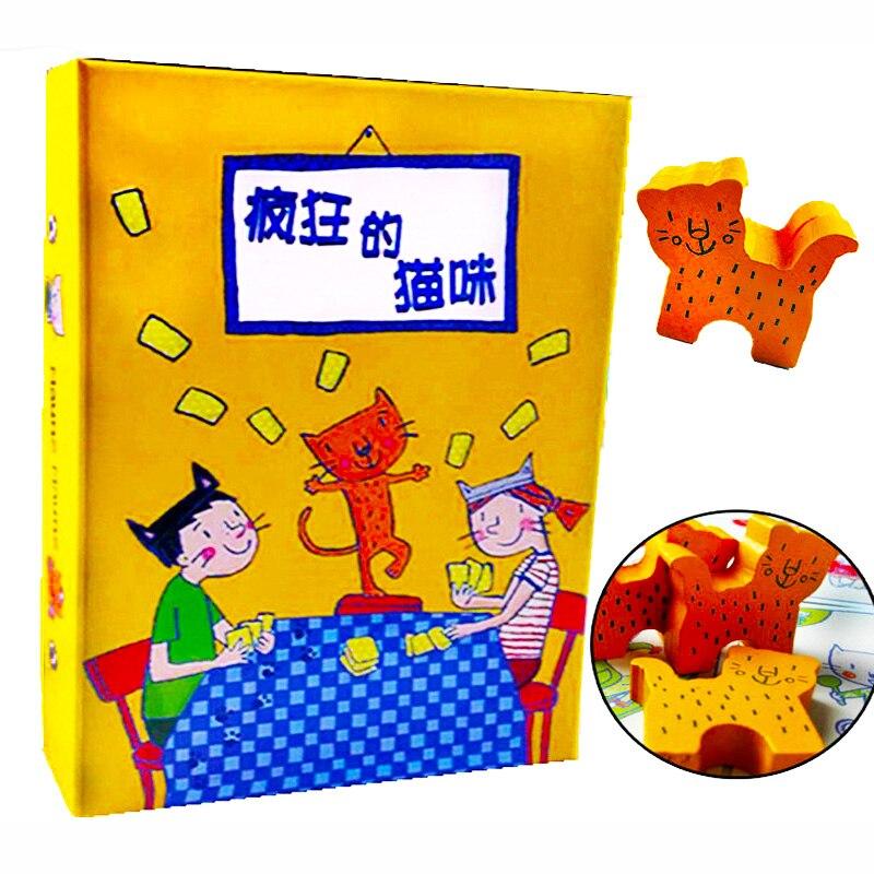 Gato louco Maunz 2-5 Jogadores Jogo de Tabuleiro Família/Partido Melhor Presente para a Festa de Crianças Jogo de Batalha Enviar instruções