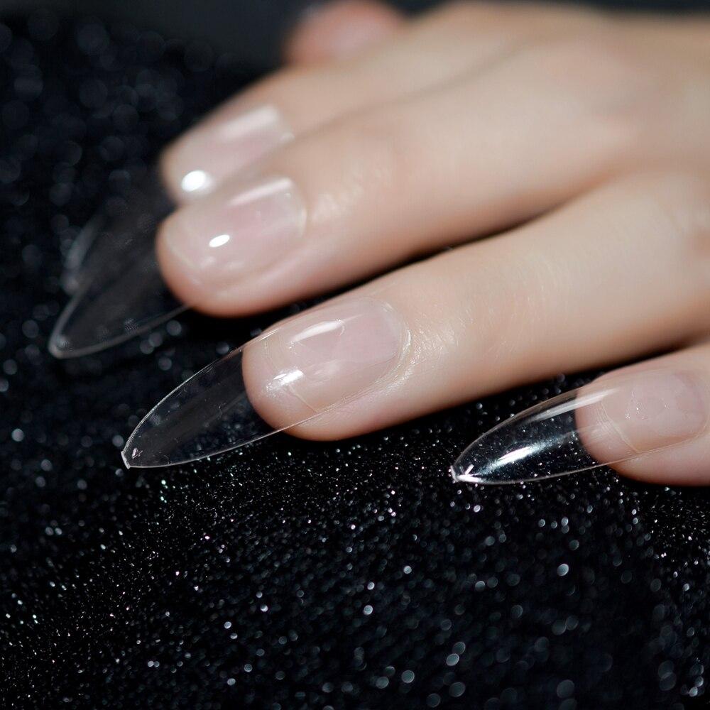 Stiletto Long Nails Transparent Clear Nails Art DIY Acrylic Fake Nail Plastic Press On Nails