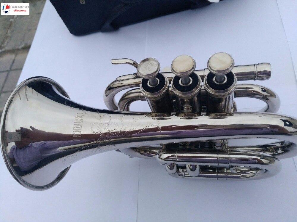 Private & Custom Mendini MPT-N Custom image Nickel Plated Bb Pocket Trumpet New 2021 enlarge