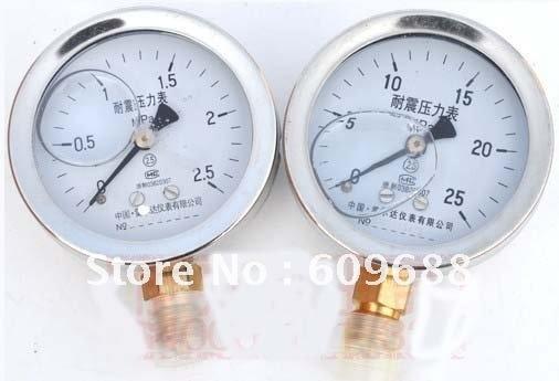 الفولاذ قذيفة ، صدمة واقية ضغط guage ، الطلب قطرها 60 مللي متر ، YTN-60 0-2.5Mpa/0-1.6MPa/0-25Mpa الضغط التبديل