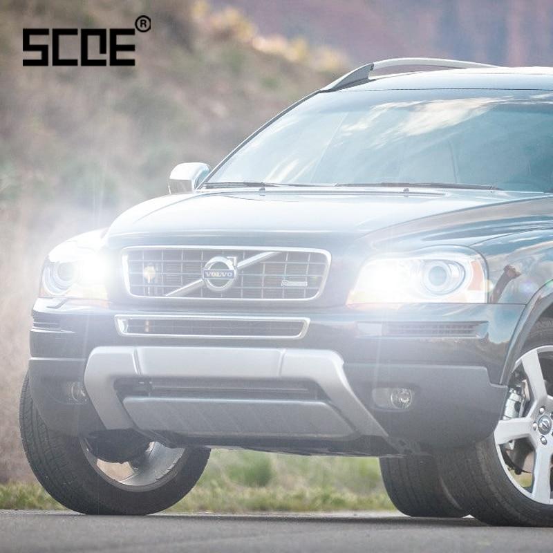 Para Volvo C70 S60 V40 V70 XC60 XC70 XC90 SCOE 2 uds Auto Luz De Carretera bombilla Super halógena faro coche estilo blanco cálido