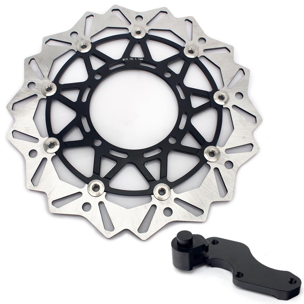 BIKINGBOY para Kawasaki KX 250 F 04-15 KX 450 F 06-15 KLX 450 R 07- 14 KX 125 250 95-08 320mm disco de freno disco Rotor soporte