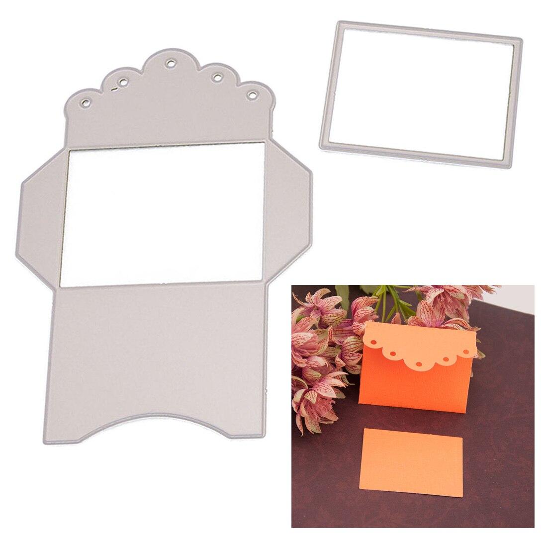 DIY troqueles troquelados de Metal de sobre Pop up para álbum de recortes papel gofrado confección de tarjetas suministros decorativos para manualidades