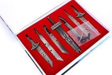 7 pièces/ensemble film FF7 final fantaisie Cosplay arme métal ensemble jouet nuage conflit épées Buster Collection cadeaux boîte emballage