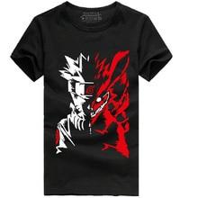 Футболка с Наруто SASUKE Leaf Clouds Akatsuki FOX KYUBI NINE tail, хлопковая футболка