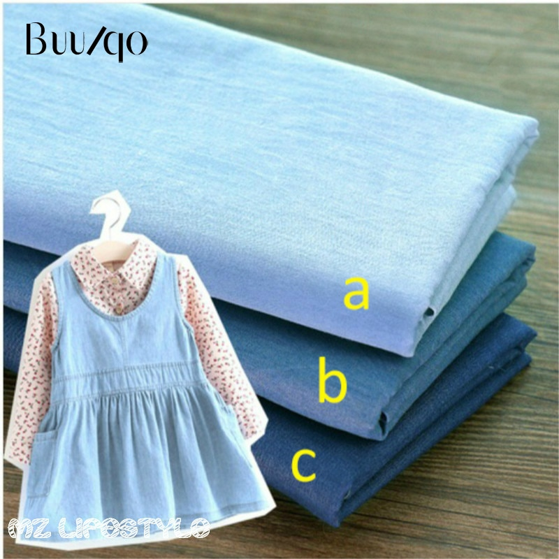 Тонкая 100% хлопковая синяя джинсовая ткань, джинсовая ткань цвета индиго на половину метра, сделай сам, швейная ткань из кусков